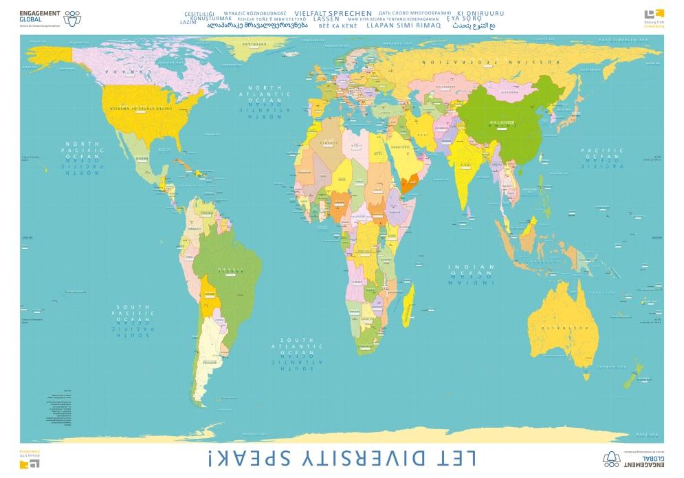 """die weltkarte lernen Neue Weltkarte """"Vielfalt sprechen lassen"""" von Bildung trifft"""