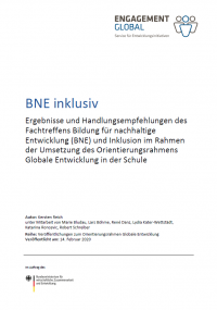 Titelseite BNE Inklusiv. Quelle: ges.engagement-global.de
