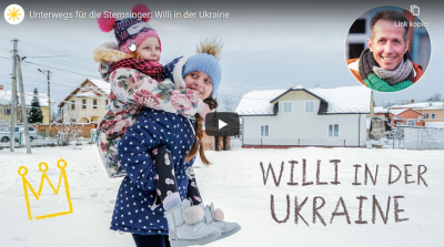 "Szenenbild Film ""Unterwegs für die Sternsinger: Willi in der Ukraine"". Quelle: sternsinger.de"