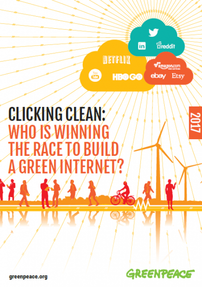 Clicking Green: Who is winning the race to build a green Internet?. Quelle: www.greenpeace.org