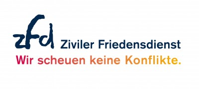 Logo ZFD. Quelle: https://www.ziviler-friedensdienst.org.