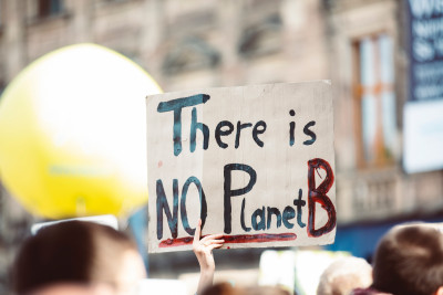 """There is no Planet B""-Plakat, Photo von Markus Spiske auf Unsplash"